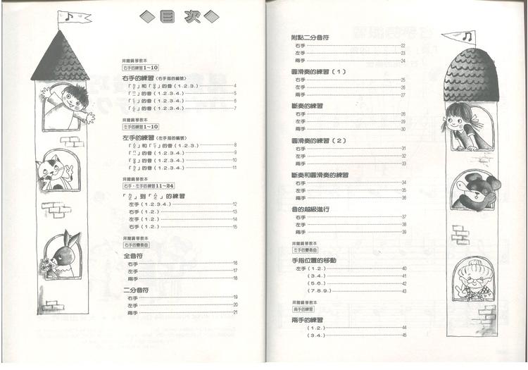 M041 日本DOREMI 儿童拜尔技巧教本 一