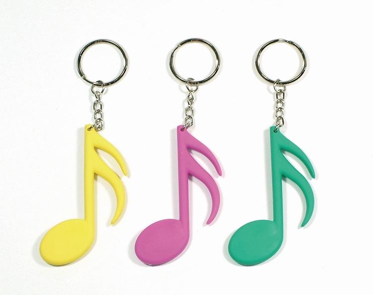 胶钥匙圈 造型高音谱号 造型十六分音符 造型双八分音符,共9款