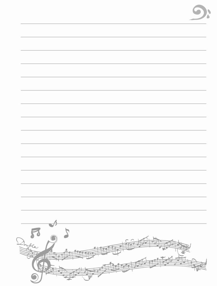 gf901b 手绘音符笔记本(中)
